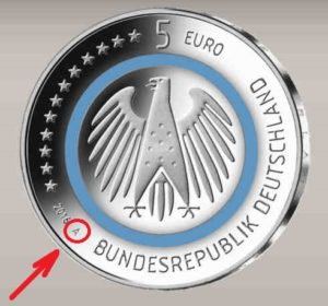 5 EURO BLAUER PLANET ERDE BERLIN