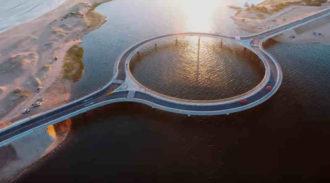 круглый мост миниатюра