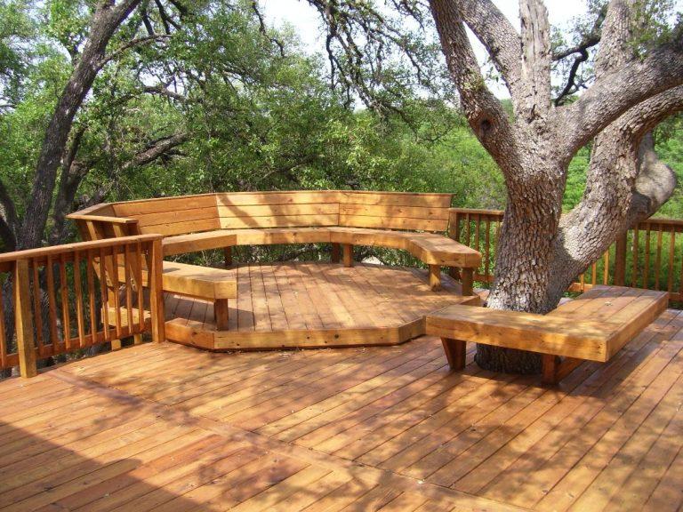 скамья вокруг дерева 4