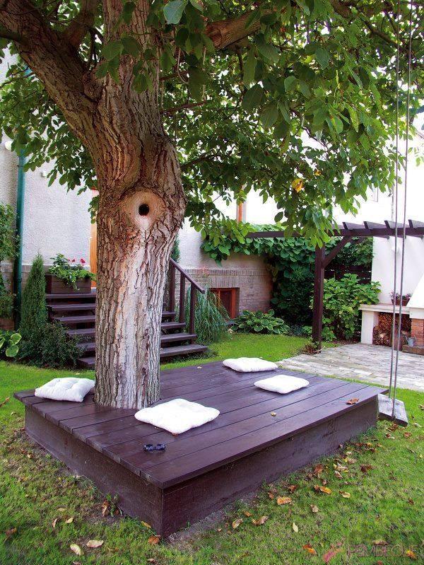 скамья вокруг дерева 7